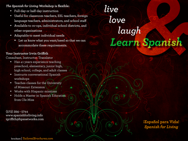 Old Spanish for Living Brochure A