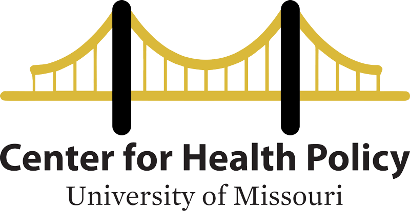 Center for Health Policy logo (black and gold bridge)